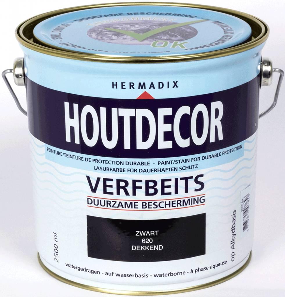 Hermadix beits dekkend 620 zwart 2 5 liter beits - Verf kleur keuzes voor zitplaatsen ...