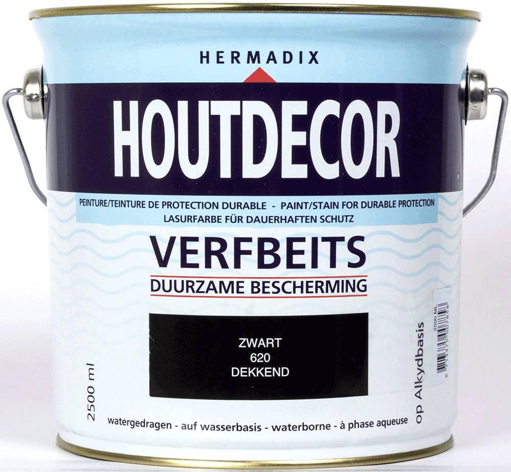 Hermadix Beits dekkend 620 zwart 2,5 ltr