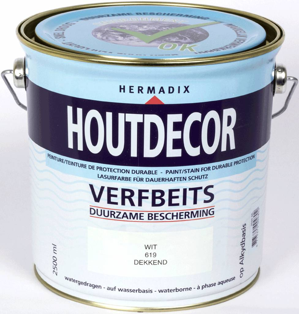 Hermadix Beits dekkend 619 wit 2,5 ltr