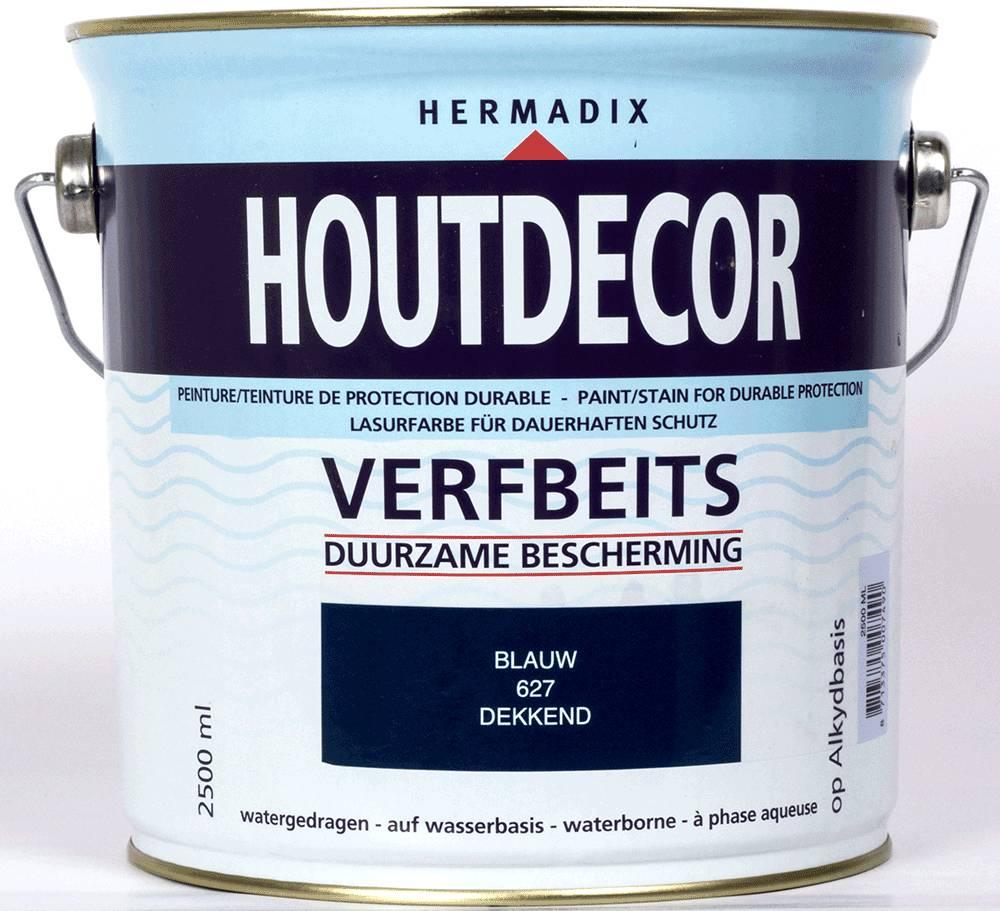 Hermadix Beits dekkend 627 blauw 2,5 ltr