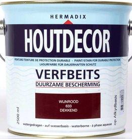 Hermadix Beits dekkend 633 wijnrood 2,5 ltr