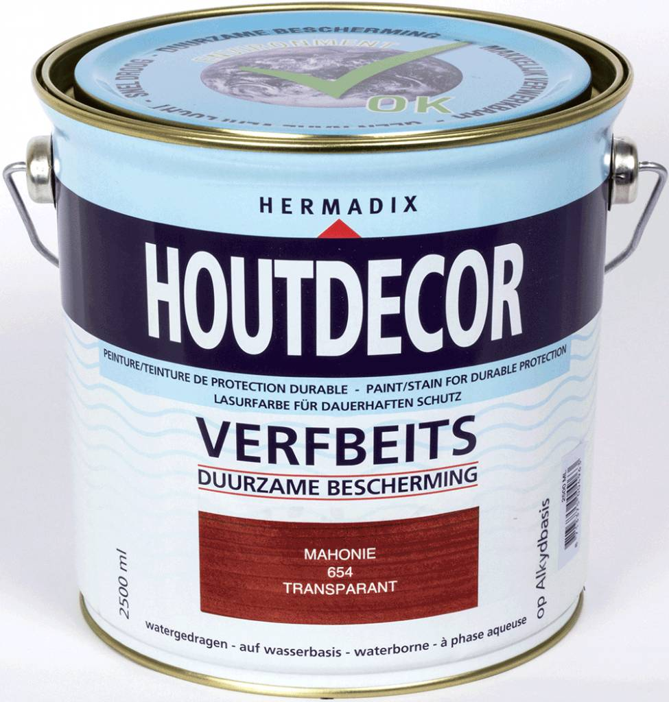 Hermadix Beits transparant 654 mahonie 2,5 ltr