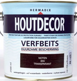 Hermadix Beits transparant 655 noten 2,5 ltr