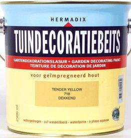 Hermadix Beits dekkend 718 tender yellow 2,5 ltr