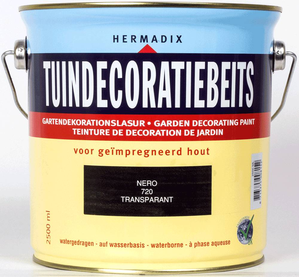 Hermadix Beits transparant 720 nero 2,5 ltr