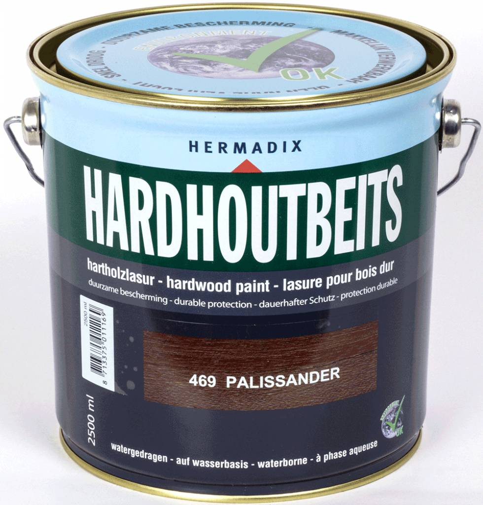Hermadix Hardhoutbeits 469 palissander 2,5 ltr