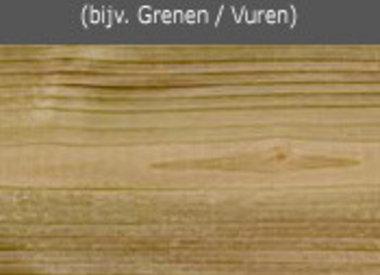 Behandeld zacht hout