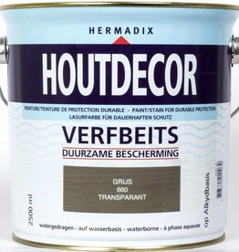 Hermadix Beits transparant 660 transparant grijs 2,5 ltr