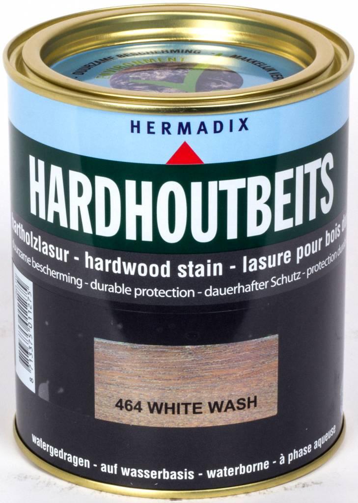 Hermadix Hardhoutbeits 464 white wash 0,75 ltr