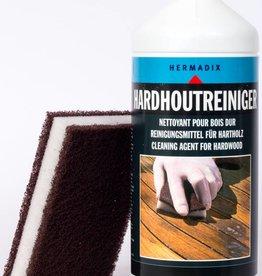 Hermadix Hardhoutreiniger met schuurspons