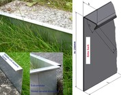 Bord de pelouse, Bordure à planter, bord de Gazon profilés d'arrêt gravel, extra hauteur acheter à Versandmetall
