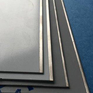 Versandmetall Restposten 5 Edelstahl Blechstreifen 1,0mm mindestens 50mm breit x 2 mtr