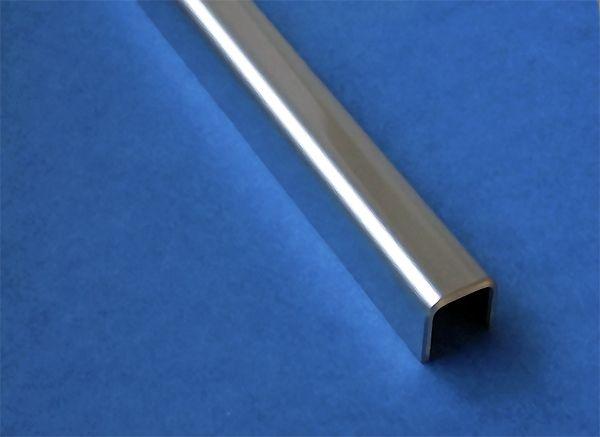 glas einfassprofil u profil 1 5mm edelstahl bis l 2000mm. Black Bedroom Furniture Sets. Home Design Ideas