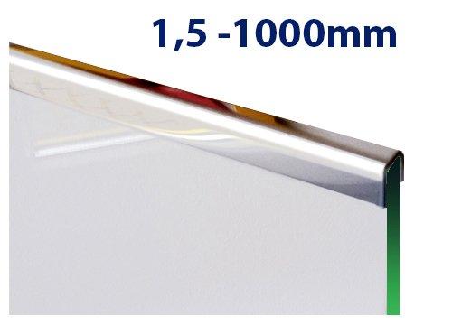 glas einfassprofil u profil 1 5mm edelstahl bis l 1000mm von 8mm bis 12 52mm glas kaufen. Black Bedroom Furniture Sets. Home Design Ideas