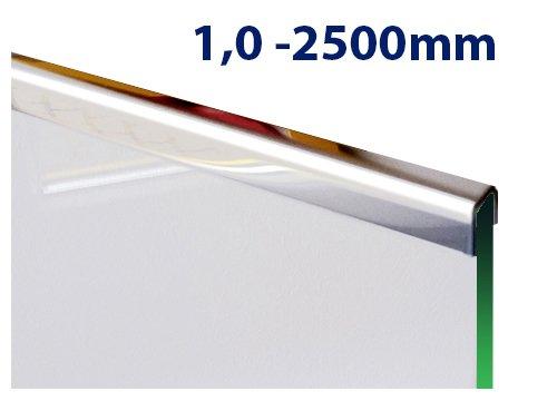 glas einfassprofil u profil edelstahl bis l 2500mm von 8mm bis 12 52mm glas kaufen. Black Bedroom Furniture Sets. Home Design Ideas