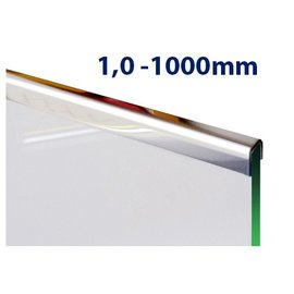 Versandmetall Einfassprofil Edelstahl 1,0mm Länge 1000mm
