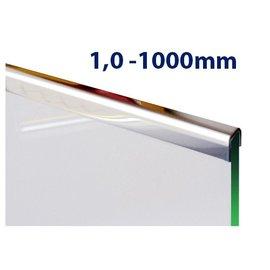 Versandmetall Profil encadrement inox en acier inoxydable de 1,0mm, longueur 1000mm