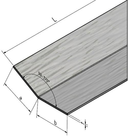 hoekprofiel rvs 304 hoekstrip l profiel roestvrij staal lengte naar keuze kopen van. Black Bedroom Furniture Sets. Home Design Ideas