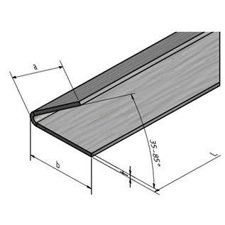 Versandmetall Edelstahlwinkel gleichschenkelig 60° Länge 1500 mm