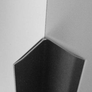 Versandmetall Innen Edelstahlwinkel Kantenschutzwinkel Eckschutzschiene gleichschenkelig 90° Länge 2500 mm