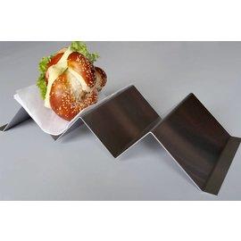 Versandmetall 2er hot dog plateau snack vague