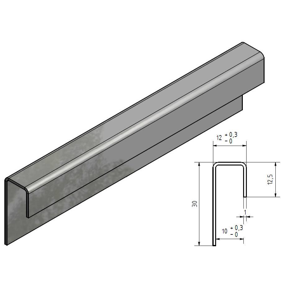 glas einfassprofil u profil edelstahl bis l 2500mm von 8mm bis 10mm glas kaufen versandmetall. Black Bedroom Furniture Sets. Home Design Ideas