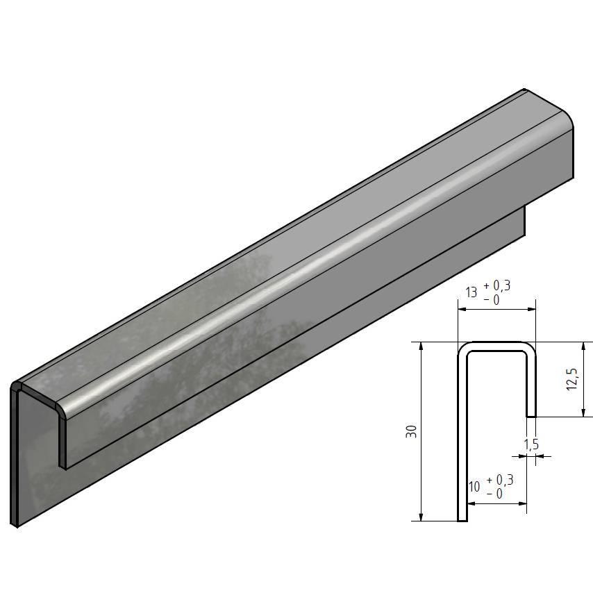 Glas Einfassprofil U Profil Edelstahl Bis L 2500mm Von 8mm Bis