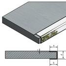 Versandmetall Einfassprofil 1,0mm für gefräste Platten