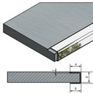 Versandmetall Profil encadrement Inox 1,0mm, pour panneaux avec fraisage