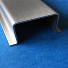 Versandmetall Hutprofil Edelstahl Höhe 20mm Breite 30 - 80mm Länge 1250 mm