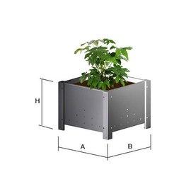 Versandmetall Bloemenpot plantenbak roestvrij Staal,