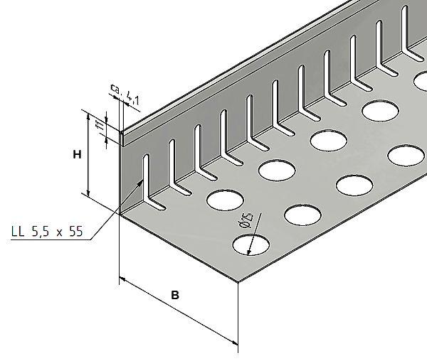 kiesfangleiste kiesleiste aus edelstahl von versandmetall. Black Bedroom Furniture Sets. Home Design Ideas