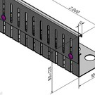 Versandmetall Bande  de gravier en acier inoxydable hauteur réglable en hauteur 80-120mm