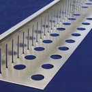 Versandmetall Kiesfangleiste klein gelocht Aluminium Höhe 40-75mm