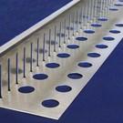 Versandmetall Kiesfangleiste groß gelocht Aluminium Höhe 80-120mm