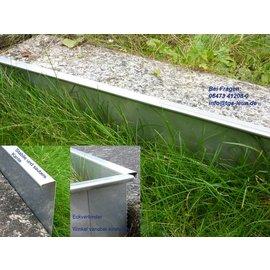 Versandmetall Bordure de pelouse inox robustes Rails de gravier en acier inoxydable 130-200mm de haut, b = 20mm de large