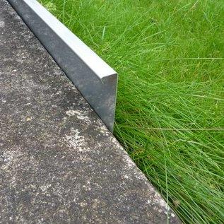 Versandmetall Extra hohe Rasenkanten Kiesleiste Beeteinfassung aus Edelstahl rostfrei 250mm hoch