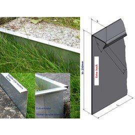 entw sserungsrinne edelstahl terrasse kiesfangleisten. Black Bedroom Furniture Sets. Home Design Ideas