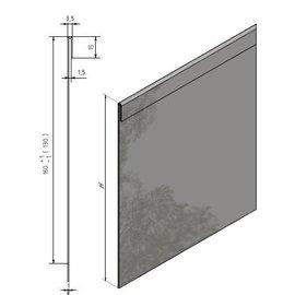 Versandmetall Bords de pelouse stables avec pli en acier inoxydable 160-250 mm de haut