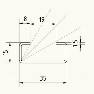 c profil aus edelstahl 4 fach gekantet oberfl che ausw hlbar von versandmetall kaufen. Black Bedroom Furniture Sets. Home Design Ideas