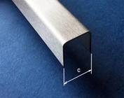 """Profilés en U, acier inoxydable, largeur """"c"""" 70-100mm"""
