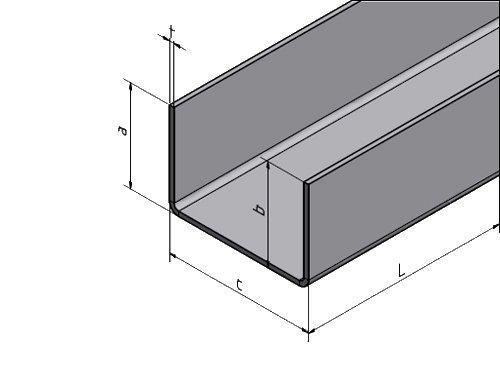 profil en u en acier inoxydable pli e 2 fois surface s lectable acheter versandmetall. Black Bedroom Furniture Sets. Home Design Ideas