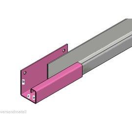 Versandmetall Gouttière P1 - connecteur droite - acier inox surface brossé  en grain 320 1,5mm