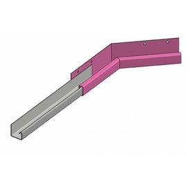Versandmetall Gouttière P1 - connecteur angle interieur 135° - acier inox surface brossé   en grain320,