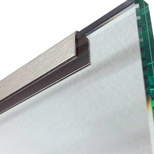 Versandmetall Einfassprofil Brüstungsglas Balkon aus 1,0mm Edelstahl für Glasstärken von 8mm bis 21,52mm Glas