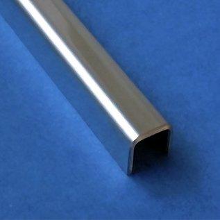 profil encadrement inox en u en acier inoxydable pour verre de parapet de 8mm. Black Bedroom Furniture Sets. Home Design Ideas