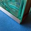 Versandmetall Profil encadrement, briques de verre, acier inoxydable de 1,0mm, longueur jusqu'à 2500mm