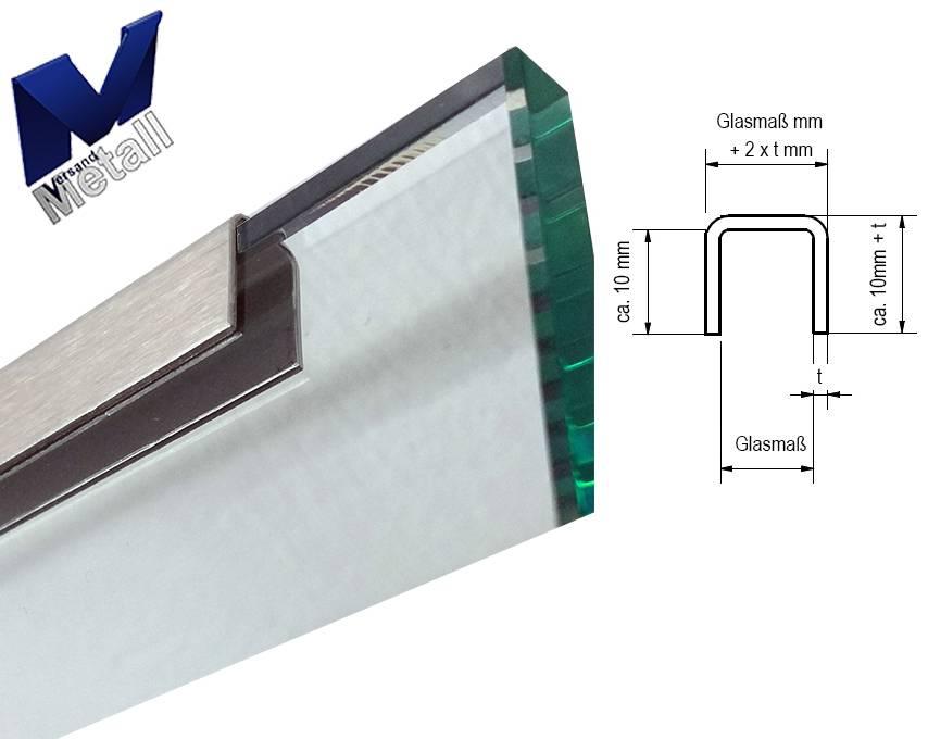 profil encadrement inox en u en acier inoxydable pour verre de parapet de 8mm acheter. Black Bedroom Furniture Sets. Home Design Ideas