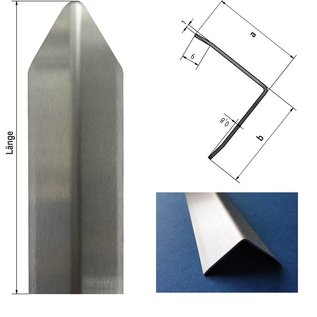 Versandmetall Eckschutzwinkel modern 3-fach gekantet, für Mauern Ecken und Kanten 40x40x1mm Länge 1000 mm K320