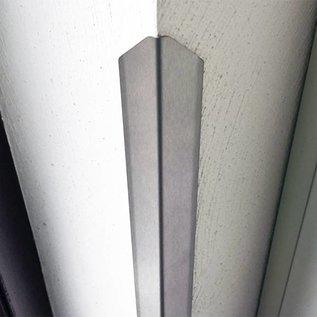 Versandmetall Eckschutzwinkel modern 3-fach gekantet, für Mauern Ecken und Kanten 40x40x1mm Länge 1500 mm K320
